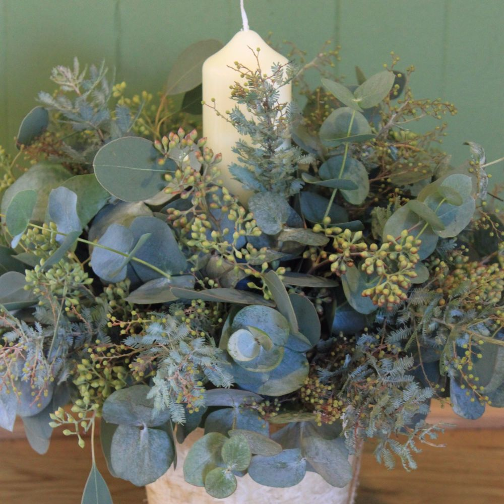 Eucalyptus Candle Arrangement