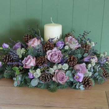 Lavender Candle Arrangement