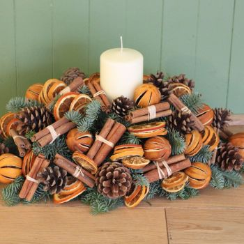 Orange and Cinnamon Candle Arrangement