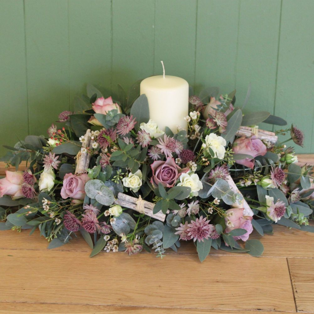 Vintage Candle Arrangement