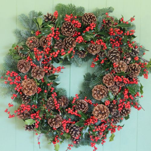 Classic Winter Berry Wreath
