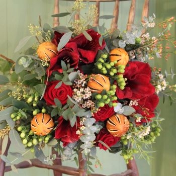 Burgundy and Orange Bouquet