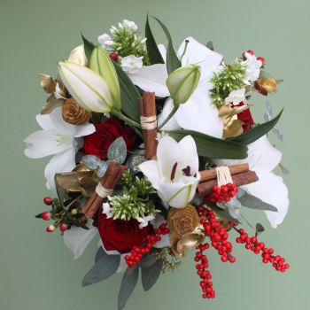 Classic Red & White Christmas Bouquet