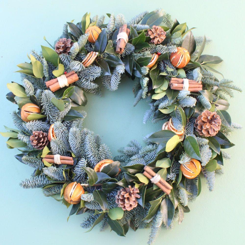 Classic Fruit Christmas Wreath
