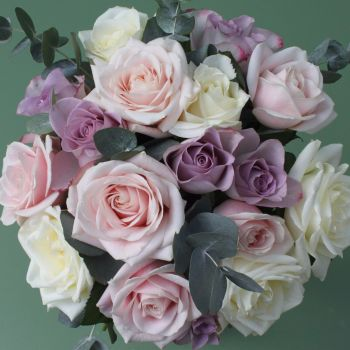 Mixed Pastel Rose Valentine's Bouquet. Price from