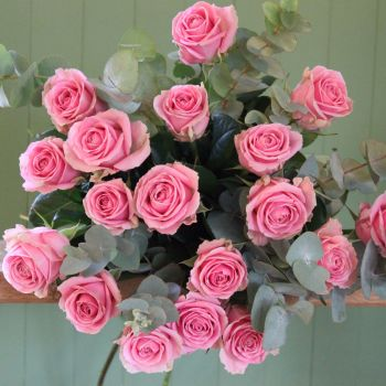 Pink Rose Valentine's Bouquet. Price from