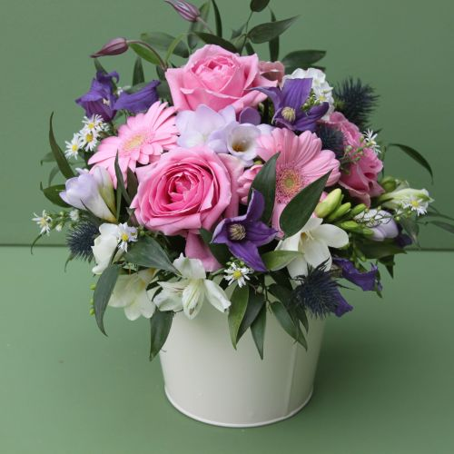 Pink Purple and White Scented Arrangement. Price from