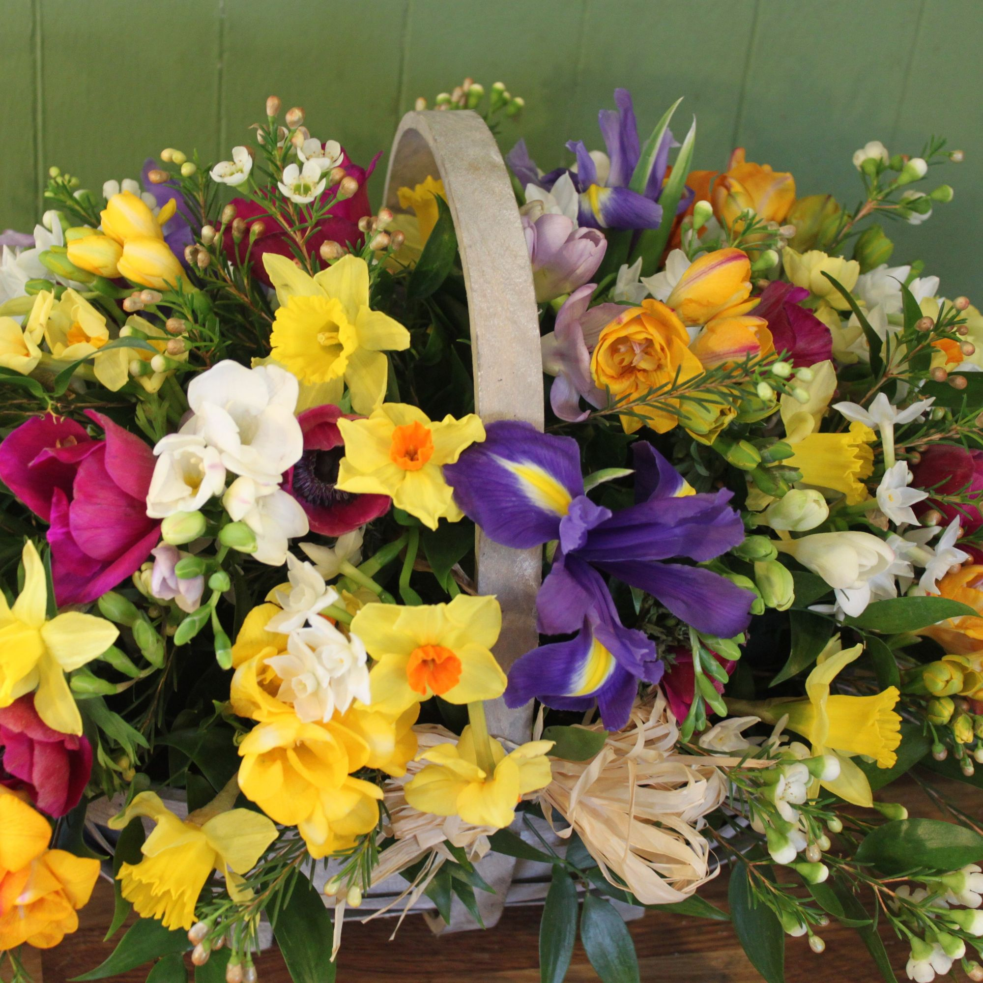 mothers day flower basket