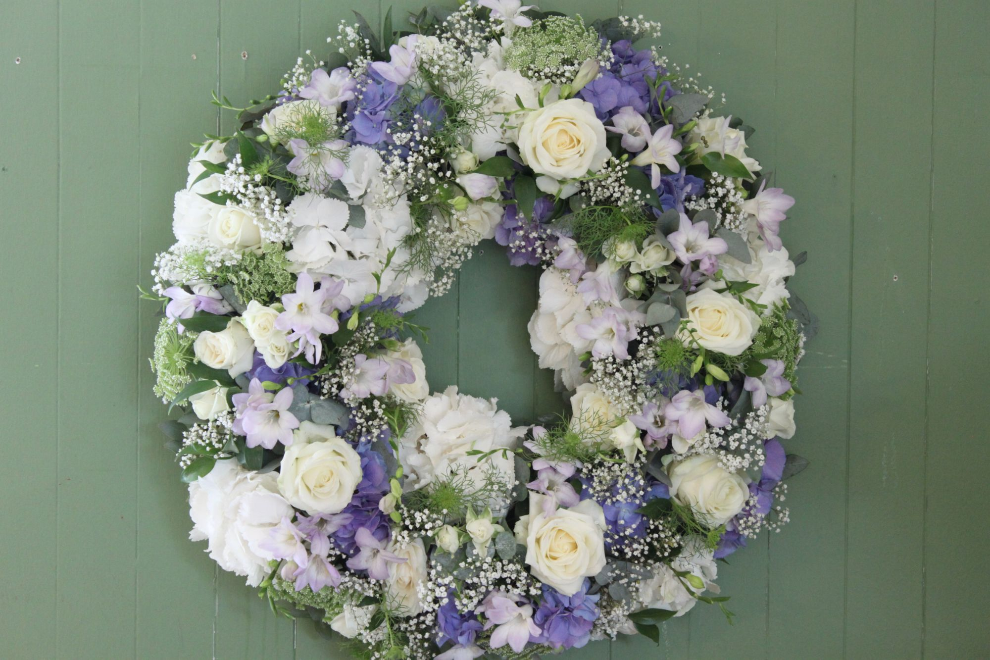 wreath funeral tribute Hurstpierpoint