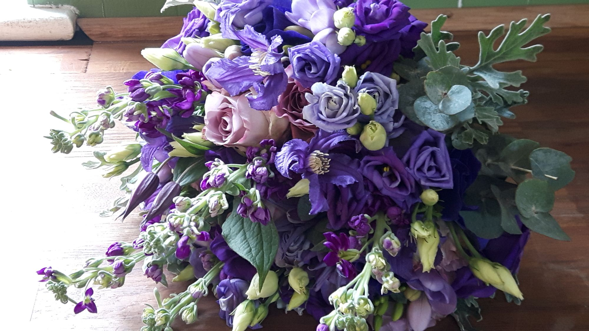 Cadburys Purple Wedding Flowers