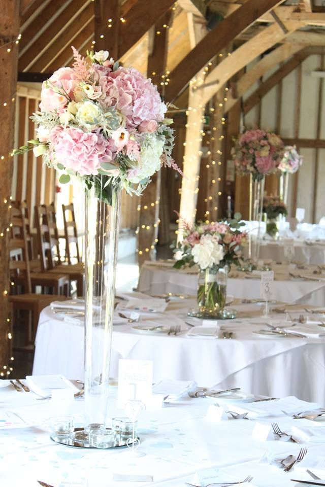 Tall Table Arrangements Wedding Flowers Sussex