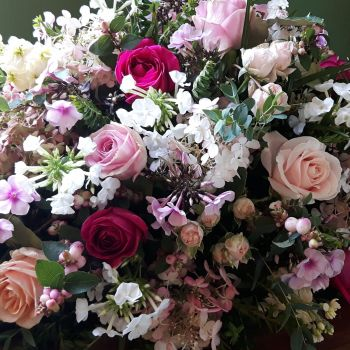 Cottage Garden Pinks Coffin Spray