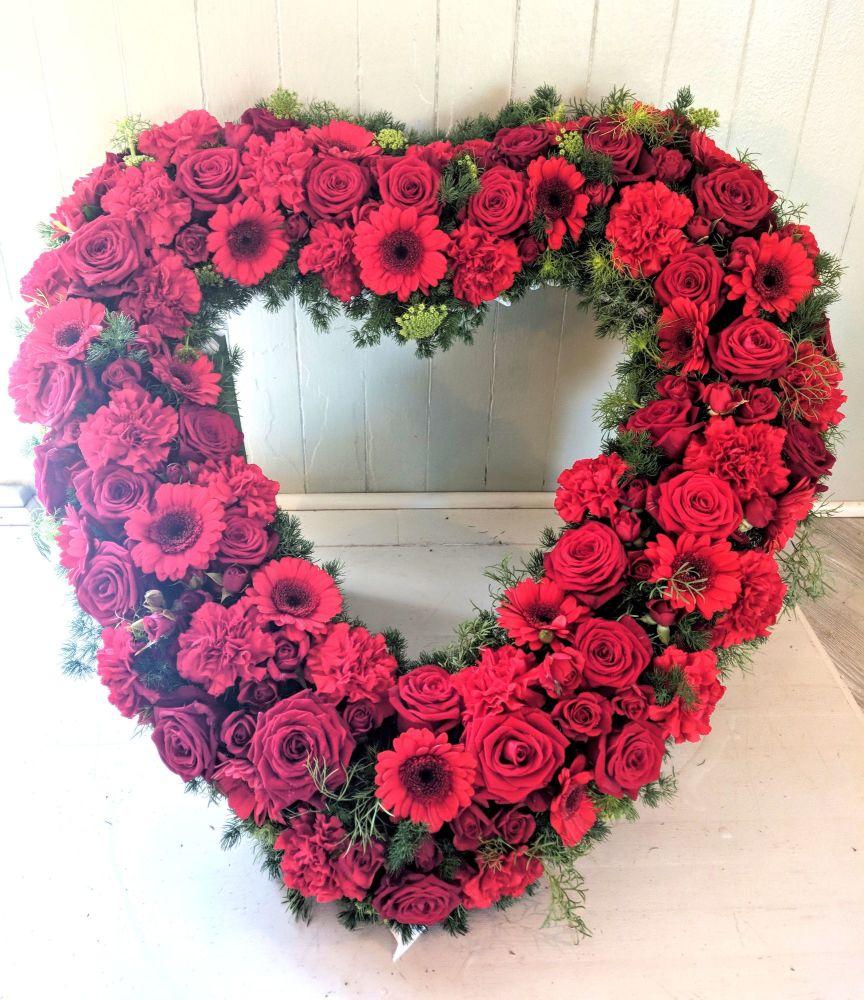 Rose, Carnation & Gerbera Open Heart