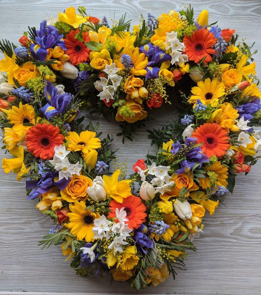 Bright & Vibrant Open Heart