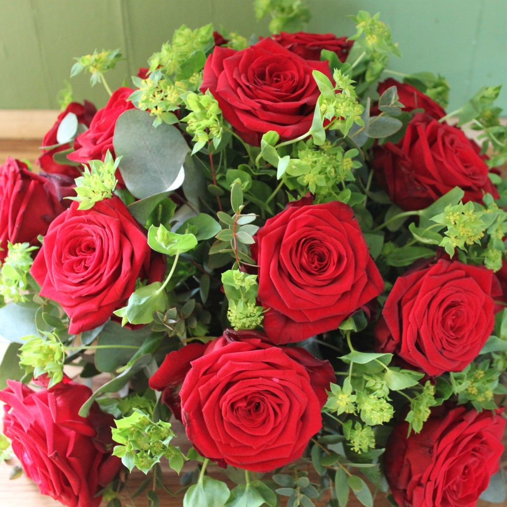 Red Rose Buplerum Posy
