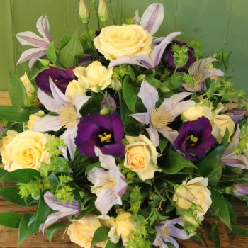 Peach Purple & Lilac Posy