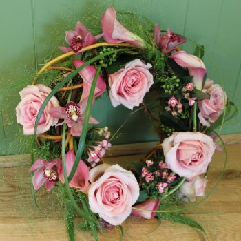 Pink Contemporary Wreath