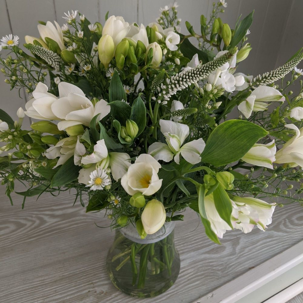 White Hour Glass Vase. Price from
