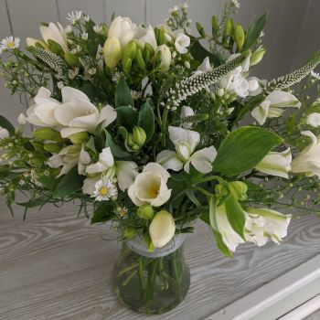 White Hourglass Vase. Price from