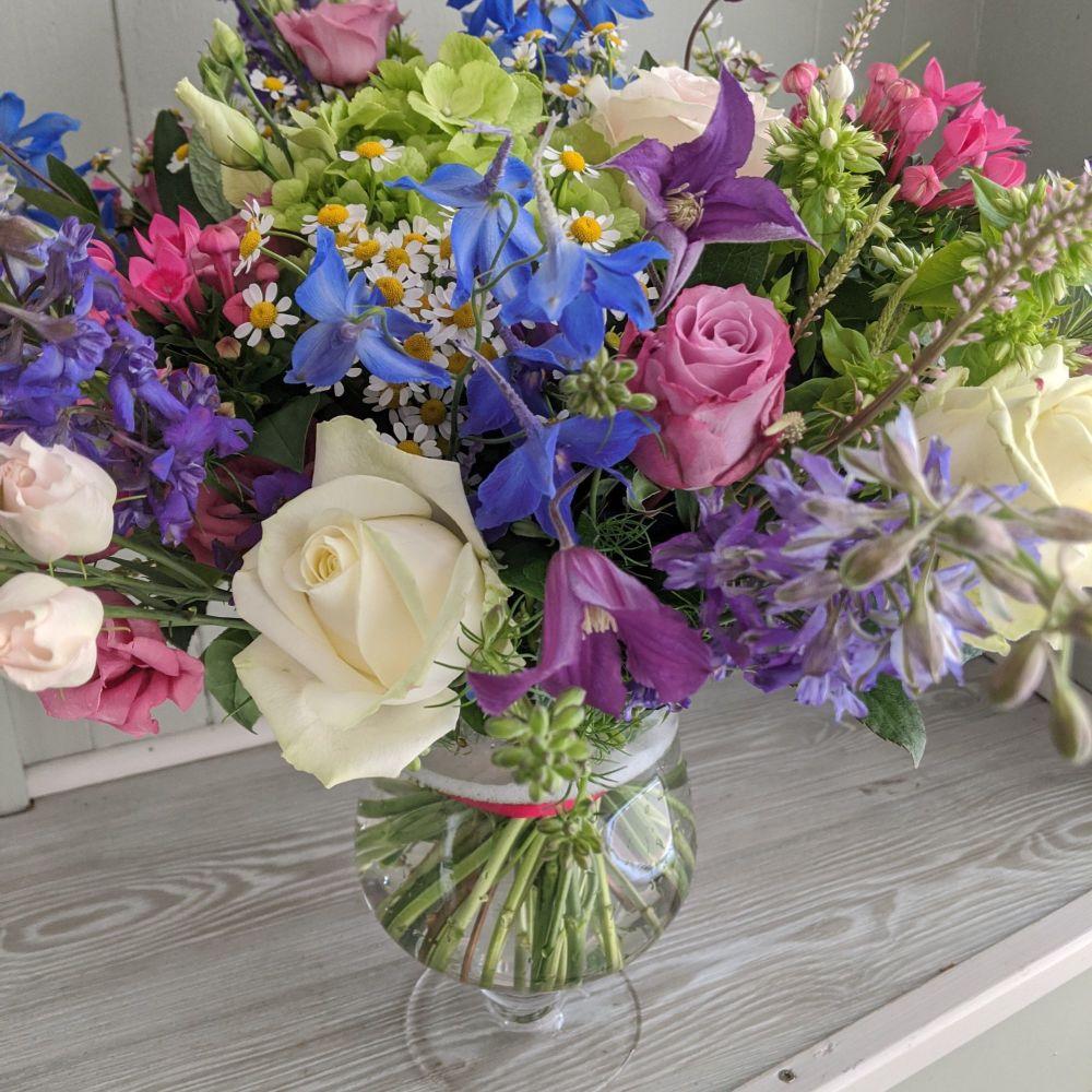White Hourglass Vase. Price from