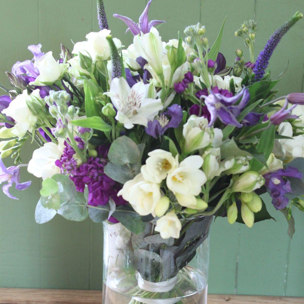 Blue & White Hurricane Vase. Price from