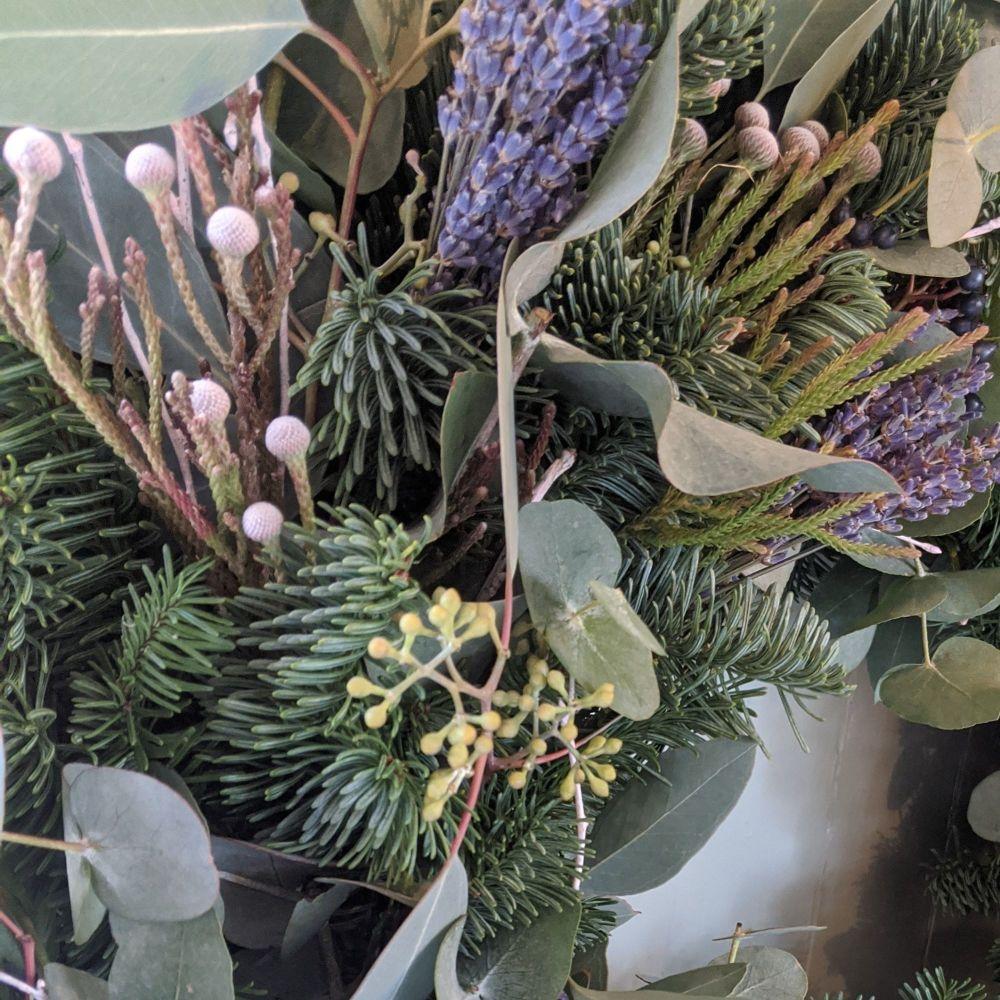 Silver Brunia & Lavender Garland