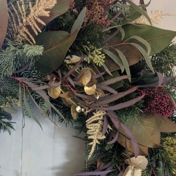 Burgundy & Gold Natural Garland