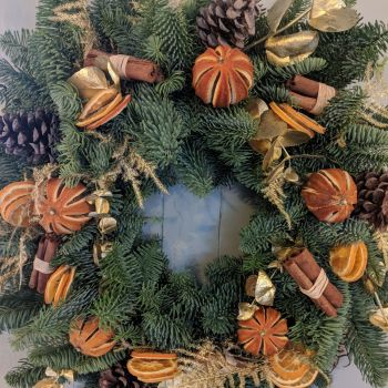 Orange & Gold Wreath