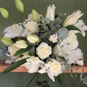 White Lily and Ivory Avalanche Bouquet. Price from