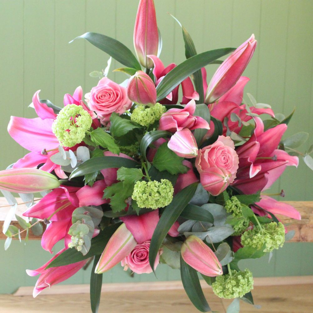 Classic Pink Lily Bouquet. Price from