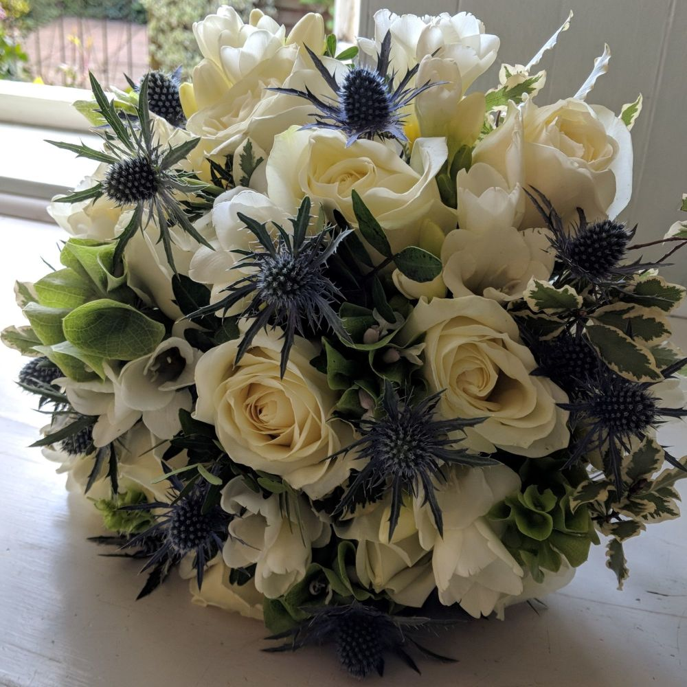 Ivory & Thistle Hand-tied Posy. Price from