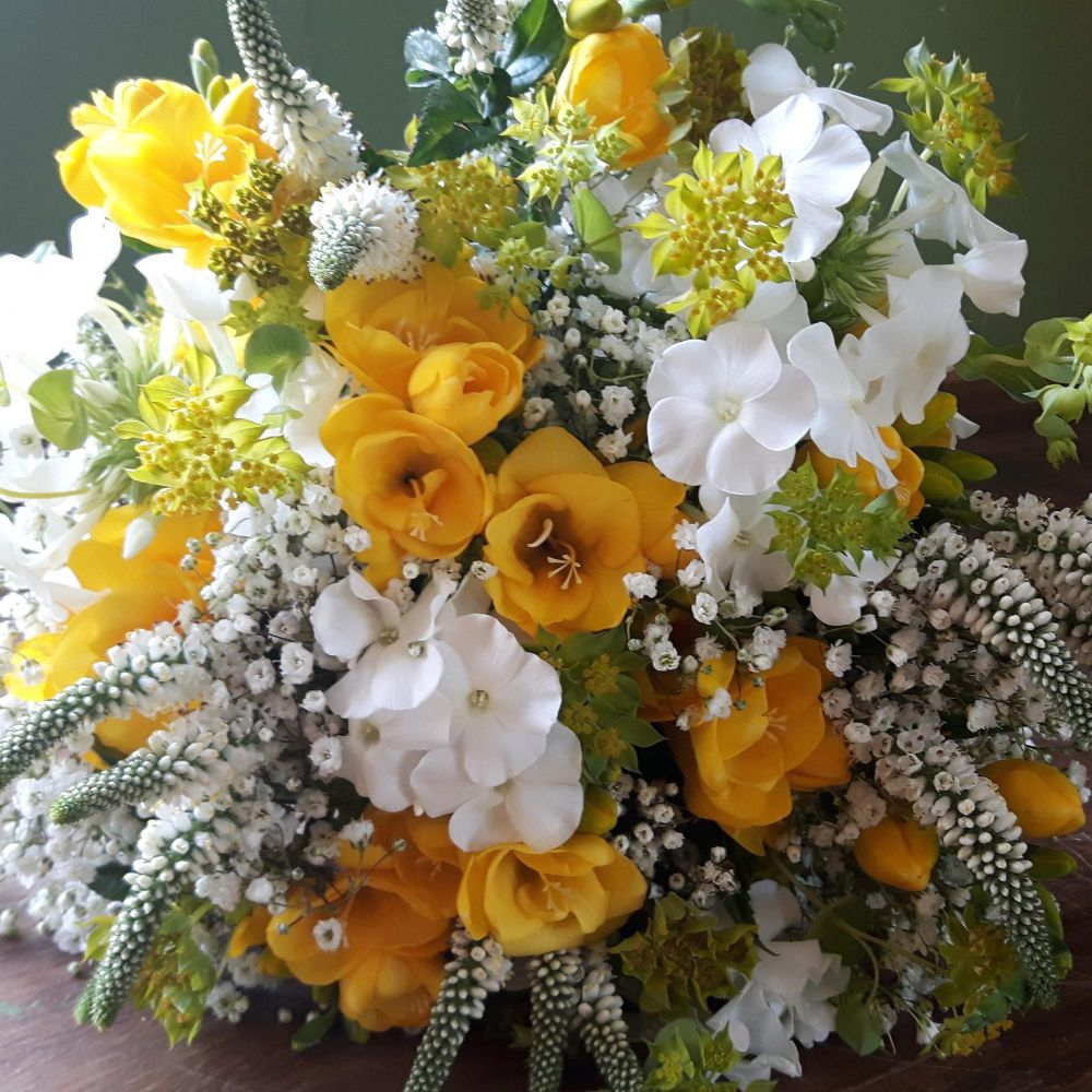 Yellow Blonde Hand-tied Posy. Price from