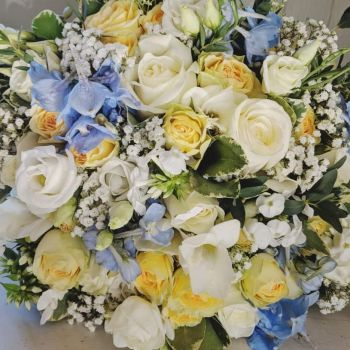 Delicate Powder Hand-tied Posy. Price from