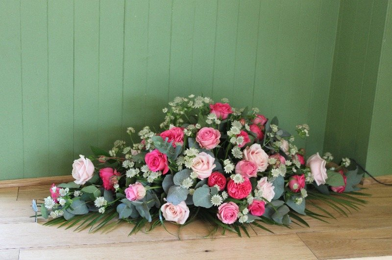 rose and astrantia spray