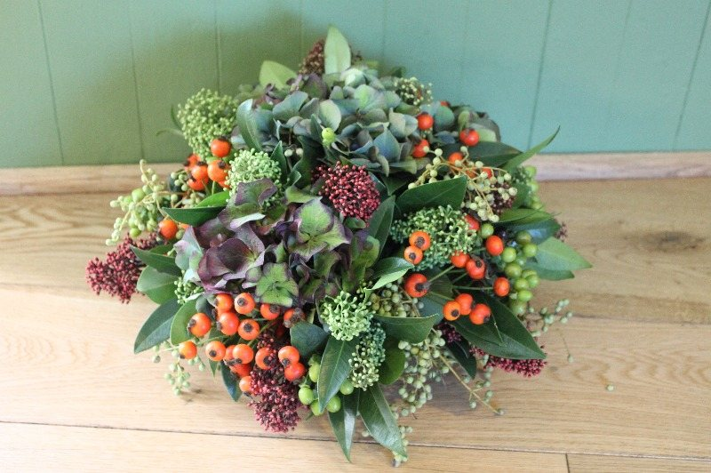 Purple & Orange Posy
