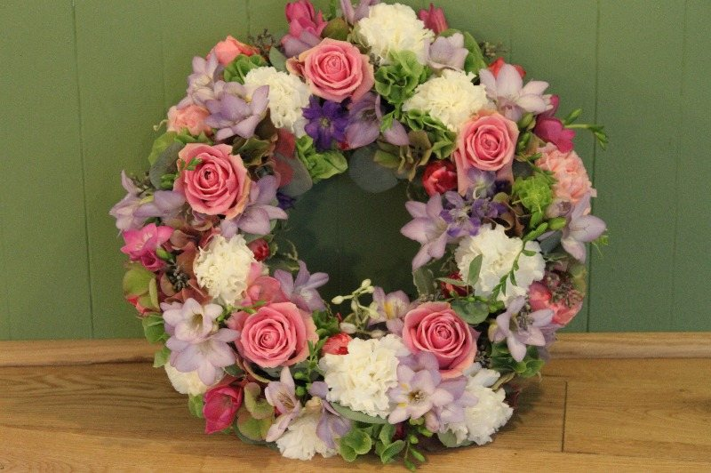 c1 cottage garden wreath