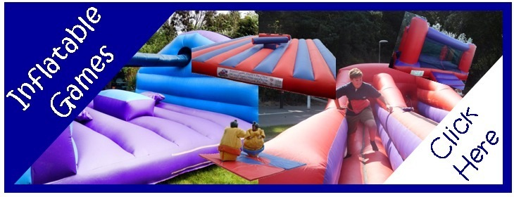 Inflatable Games homepage blue