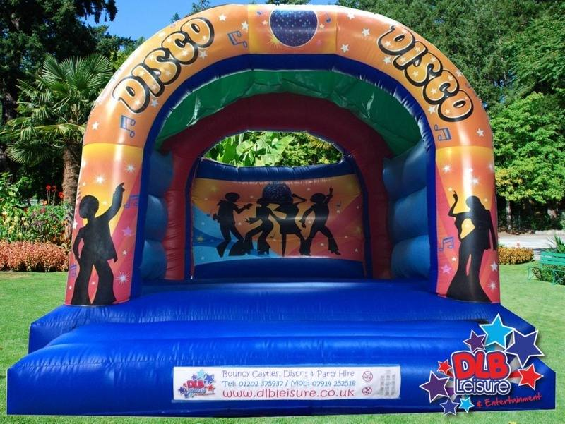 DLB Leisure - Disco Bouncy Castle 15x18ft Roofed