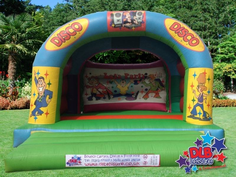 DLB Leisure - Disco Party Bouncy Castle 15x15ft Roofed