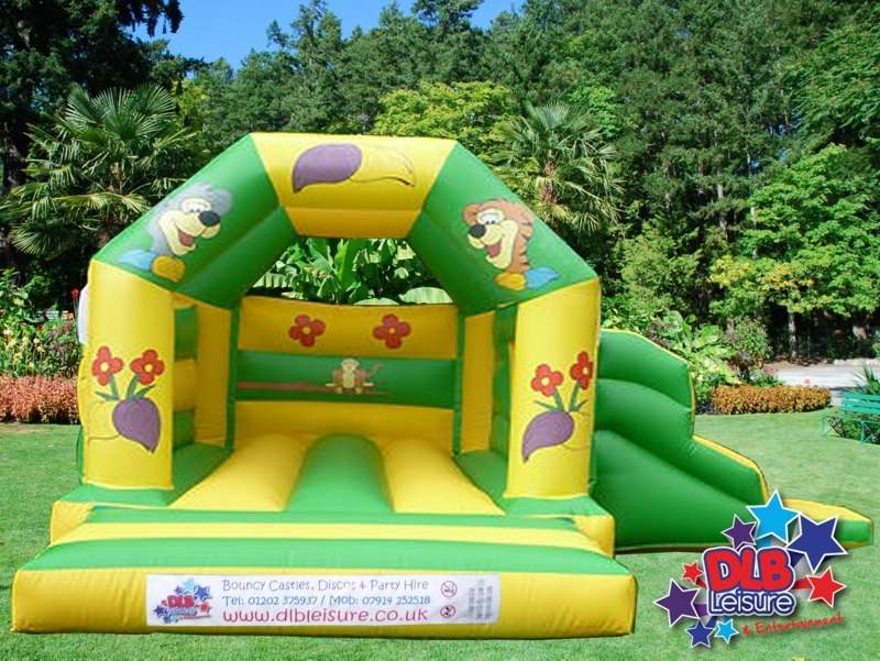 DLB Leisure - Jungle Fun Slide Bouncy Castle 15x17ft