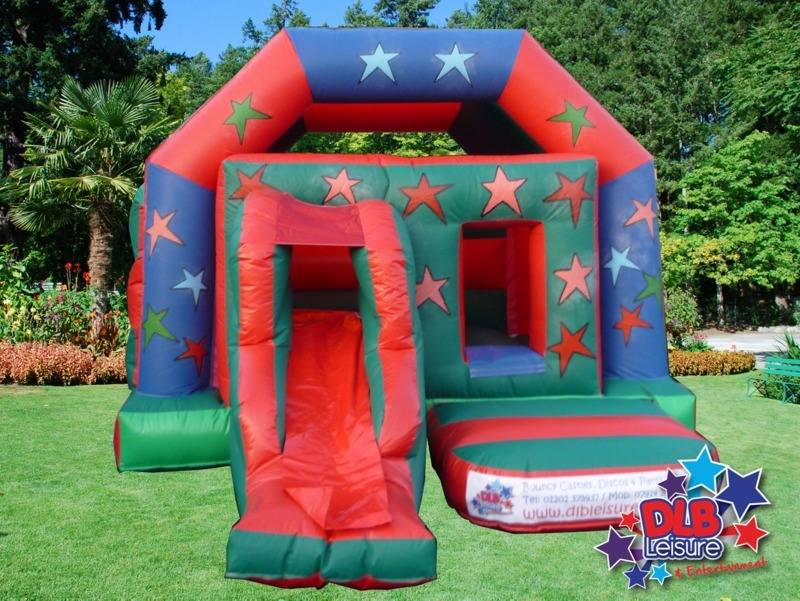 DLB Leisure - Stars Slide Bouncy Castle 12x17ft Roofed