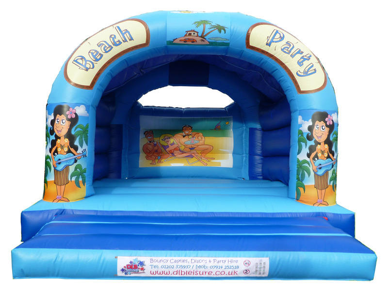 DLB Leisure - Beach Party 15x18 Bouncy Castle White