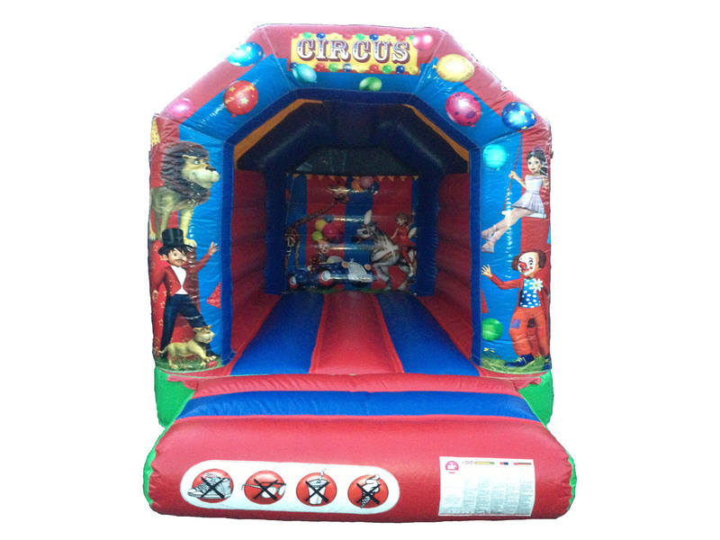 DLB Leisure - 8x10 Circus Bouncy Castle White