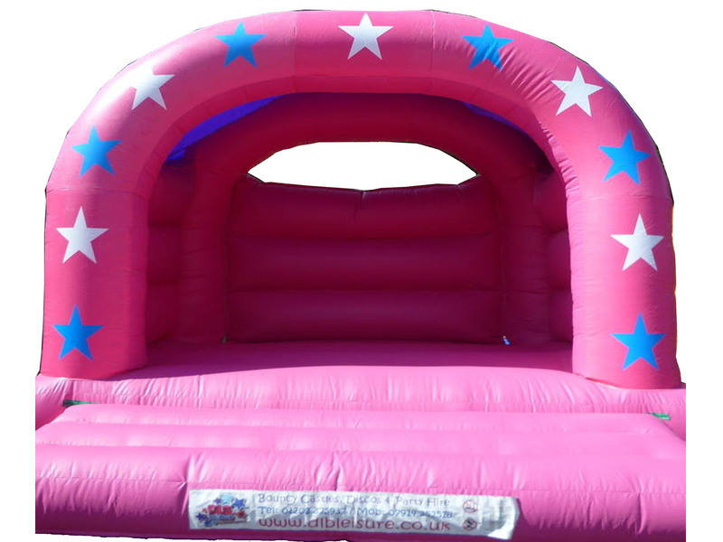 DLB Leisure - Pin Stars 15x15ft Arch Bouncy Castle