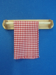 towel rail red