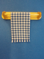 towel rail blue