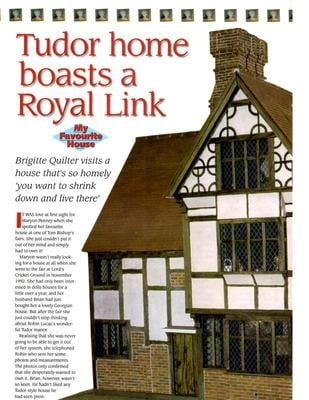 Tudor home article