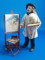 Artist, Easel & Table