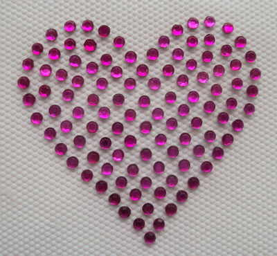 Small Pink Full Hearts x 2