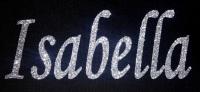 Personalised Name 1-6 Letters GLITTER Iron On / Hotfix - Mono Font